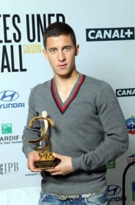 Eden Hazard wins the Best Young Player award 2009-2010