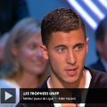 eden hazard on tv receiving trophy