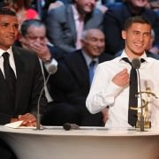 Eden Hazard on TV during the awards