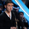 Eden Hazard delivers a speech