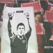 Fans thank Eden For his wonderful years with a banner