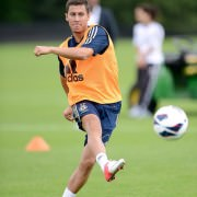 Eden Hazard on training at Chelsea