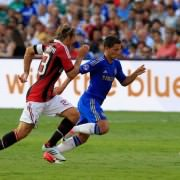 Eden Hazard during AC Milan v Chelsea