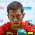 Eden Hazard at press conference of Belgium's national team