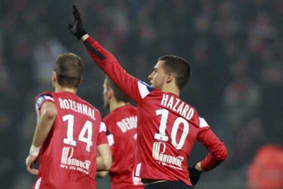 Eden goal in Lille - Valenciennes 4-0 (2012)