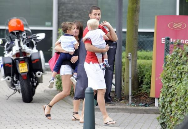 Eden and Natacha Hazard with both sons, Yanis and Leo Hazard