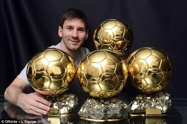Leonel Messi ballon dor 4 times
