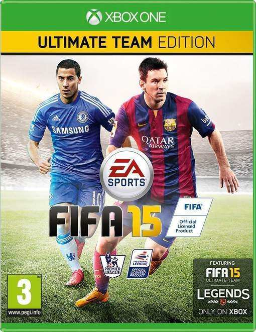 Eden Hazard and Messi on the cover of FIFA 15