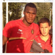 Benteke's birthday wishes to Eden Hazard