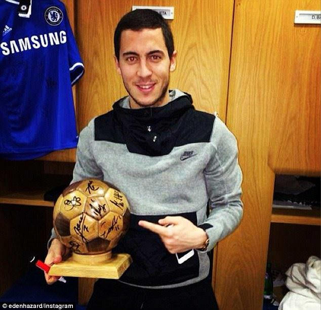 Eden Hazard with something that looks like a Ballon of Wood. Maybe next year?