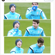 Oscar's birthday wishes to Eden Hazard