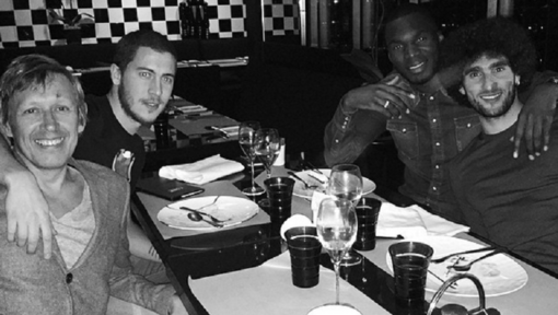 Eden Hazard celebrates new contract with friends