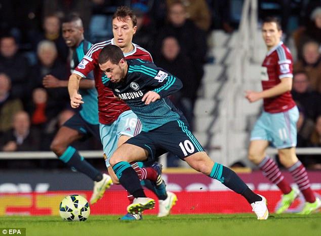 Eden Hazard dribbles his way past some defenders