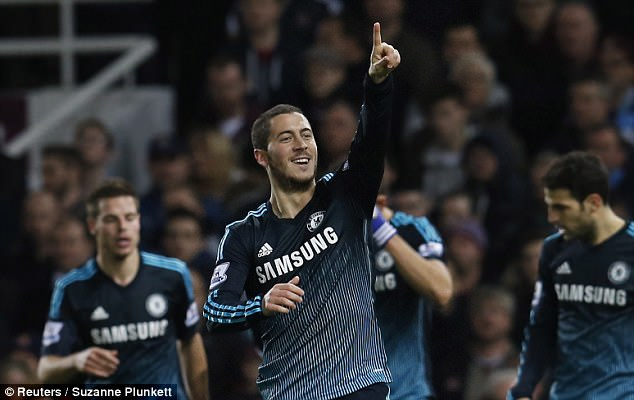 Eden Hazard was voted Footballer of the Year at the London Football Awards
