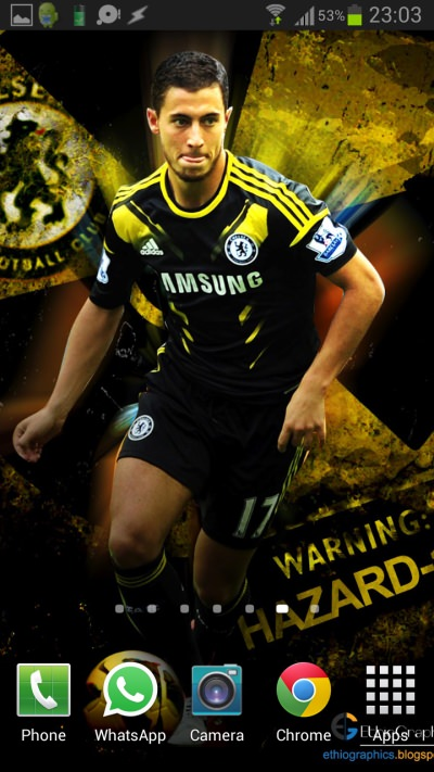 Eden Hazard Wallpaper Android IPhone Example 4