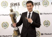 Eden Hazard very happy with the PFA award, voted by his colleagues