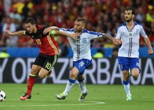 Daniel de Rossi- Marco Parolo-Eden Hazard -italy vs Belgium