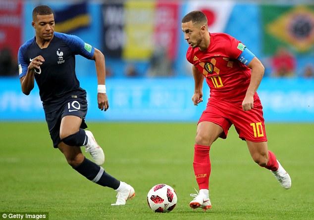 Hazard passing Kylian Mbappé